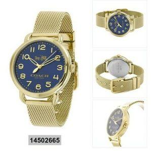 NWT Coach Women's Delancey - Gold & Navy Watch